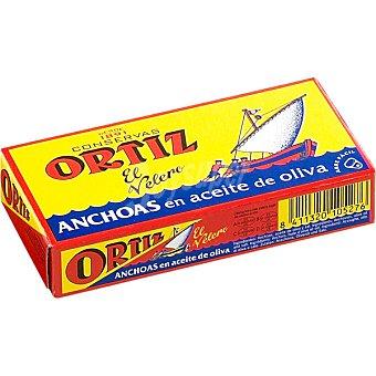 Ortiz El Velero Filetes de anchoa en aceite de oliva Lata 29 g neto escurrido