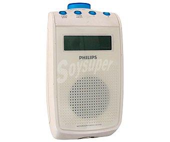Philips Radio de bolsillo AE2330 a prueba de salpicaduras, altavoz integrado, reloj y Display a prueba de salpicaduras, altavoz integrado, reloj y Display