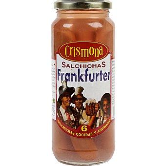 Crismona Salchichas Frankfurter frasco 300 g neto escurrido 6 unidades