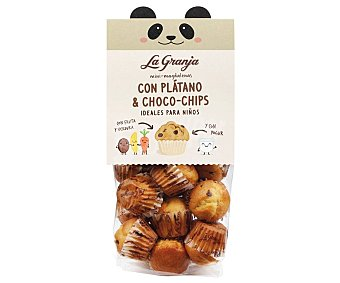 La Granja Magdalenas mini con platano y choco chips bolsa 200 g
