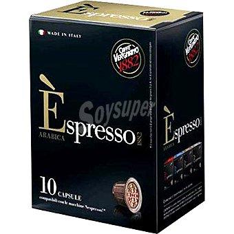 Caffe Vergmano Café arábica espresso en monodosis compatibles con máquinas Nespresso Paquete 50 g