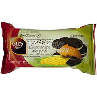 Diet Rádisson Tortitas de maíz con chocolate negro Paquete 125 g