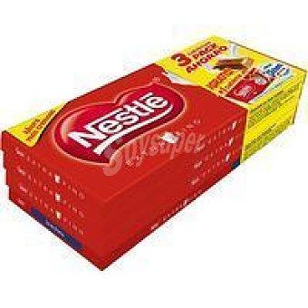Nestlé Chocolate extrafino Pack 3x125 g + Tableta La Lechera