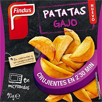 FINDUS Patatas gajo para microondas listas y crujientes en 2 minutos y medio  estuche 180 g