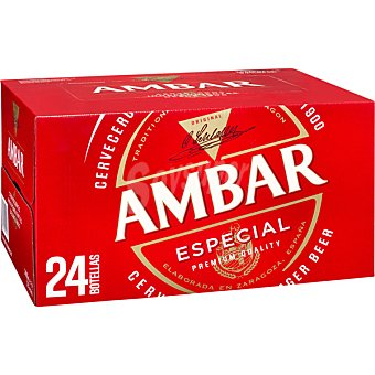 Ambar Cerveza rubia nacional especial pack 24 botellas 25 cl Pack 24 botellas 25 cl