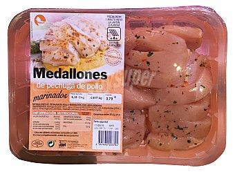 Pinchos Jovi Pollo pechuga en medallones marinados Bandeja 600 g