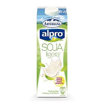 Alpro Asturiana Bebida de soja 100% natural ligera con calcio y vitaminas  Brik 1 l