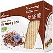 Tostadas ligeras de arroz y lino ecológicas  paquete 100 g Soria Natural