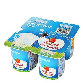 Carrefour Yogur sabor fresa Pack de 4x125 g