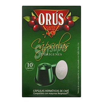 Orus Café 3 Origenes en cápsulas 10 ud