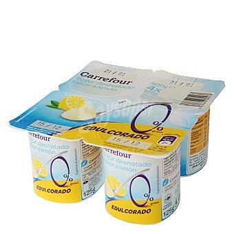 Carrefour Yogur desnatado sabor limón Pack de 4x125 g