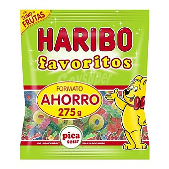 Haribo Golosina pica sour con zumo de frutas 275 g
