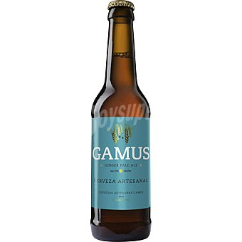 GAMUS Ginger Pale Ale Cerveza rubia artesanal de Murcia 100% Malta botella 33 cl 33 cl