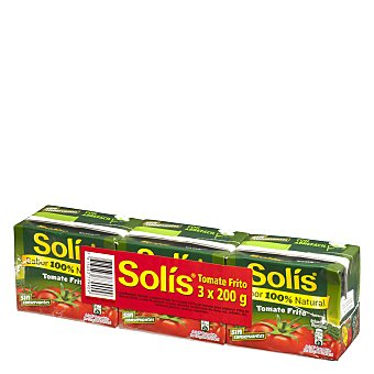 Solís Tomate frito Pack 3 envases 200 g