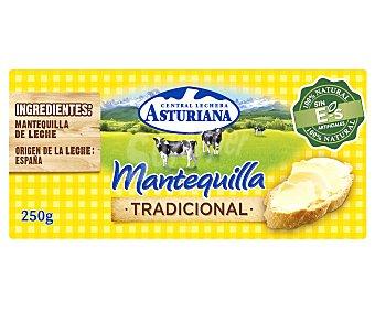 Central Lechera Asturiana Pastilla de mantequilla tradicional, sin gluten 250 g