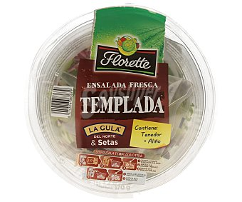Florette Ensalada templada con gulas de La Gula del Norte y setas (contiene tenedor más aliño) 170 gramos