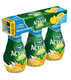 Danone Activia Zumo mediterraneo 0% Activia Pack de 3x160 g