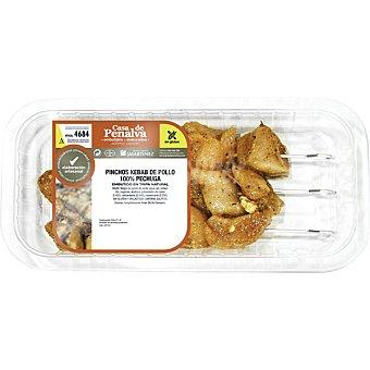 Casa de penalva Pinchos de pollo al kebab sin gluten y sin lactosa bandeja 400 g peso aproximado bandeja 400 g