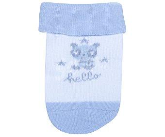 In Extenso Lote de 3 pares de calcetines de bebé, color azul, talla 15 3p