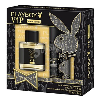 Playboy Fragrances Estuche colonia Vip Black Edition spray 50 ml. + desodorante 150 ml. 1 ud