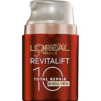 Revitalift L'Orèal Paris Crema Revitalift Total Repair 10 BB multi-perfeccionador hidratante anti-edad tarro 50 ml con toque de color medio SPF-20 Tarro 50 ml
