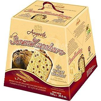 AUGUSTA Panettone con edulcorante y harina integral con pasas Estuche 750 g