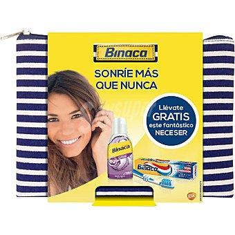 Binaca Neceser con pasta de dientes triple proteccion + enjuague bucal + cepillo Estuche 1 unidad
