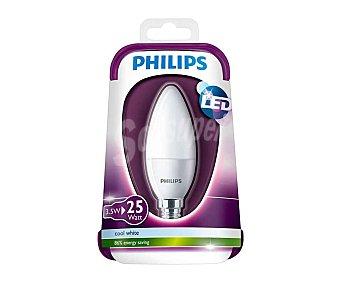 Philips Bombilla led vela de 3.5W, con casquillo E14 (fino) y luz blanca philips