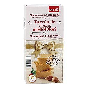 DIA Turrón de crema de almendra sin azúcar Estuche 200 gr