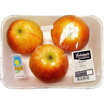 Manzanas royal gala ecológicas Bandeja de 600 g peso aproximado