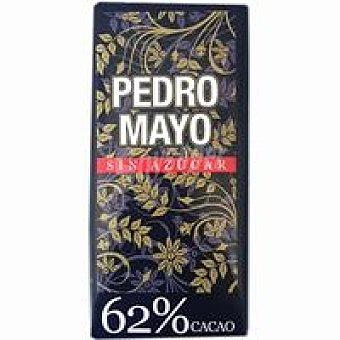 Pedro Mayo Chocolate 62% sin azúcar Tableta 125 g