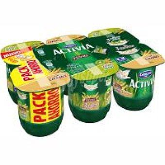 Activia Danone Activia cereales+cereal kiwix Activia Pack de 6x125 g