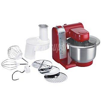 BOSCH MUM48R1 Procesador de alimentos en color rojo