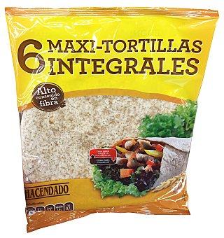 HACENDADO Tortitas mejicanas de trigo integrales maxi Paquete de 6 uds