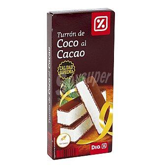 DIA Turrón de coco bañado en chocolate Estuche 200 gr