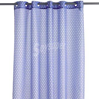 CASACTUAL Carmen cortina de baño lila con topos