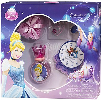 DISNEY2 Cenicienta eau de toilette infantil spray 30 ml + petalos baño + pegatina corporal + colgador puerta Spray 30 ml