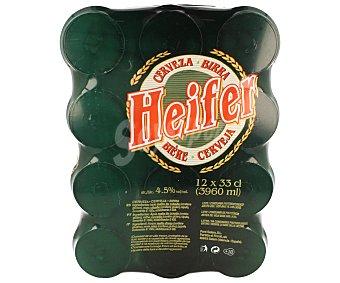 HEIFER Cerveza Pack de 12 latas de 33 centilitros