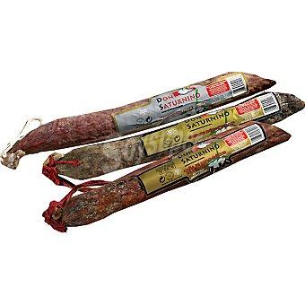 DON SATURNINO Lote de embutidos con lomo + chorizo + salchichón ibéricos de Salamanca piezas 500 g aproximados cada una 500 g