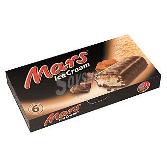 Mars barritas de helado de crema y suave caramelo estuche 251 g 6 unidades