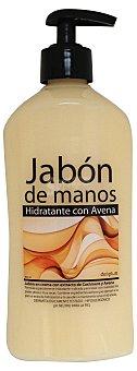 Deliplus Jabón manos líquido crema avena dosificador Botella 500 cc