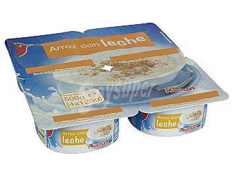 Auchan Arroz con leche 4 unidades de 125 gramos