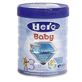 HERO BABY Nutrasense 3 leche de crecimiento desde 12 meses envase 800 g