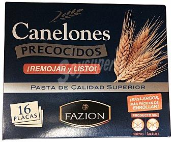 Fazion Canelones placas precocidos 125 g ( 16 u )