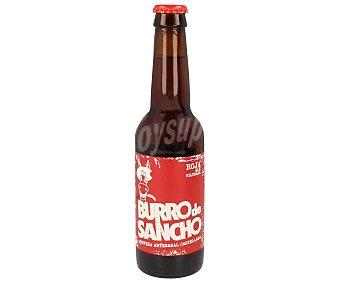 Burro de Sancho Cerveza artesanal castellana de tipo ale roja filtrada Botella de 33 centilitros