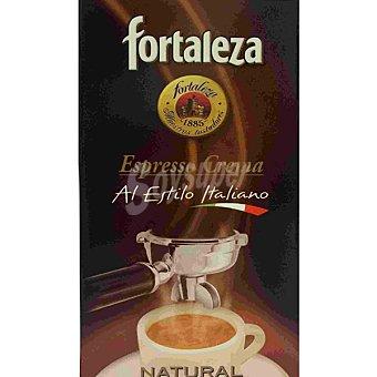 Fortaleza Café natural molido espresso crema al estilo italiano Paquete 250 g