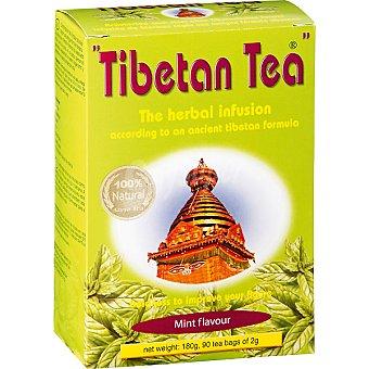 TIBETAN TEA Infusión de hierbas sabor menta 90 bolsitas estuche 180 g Estuche 180 g