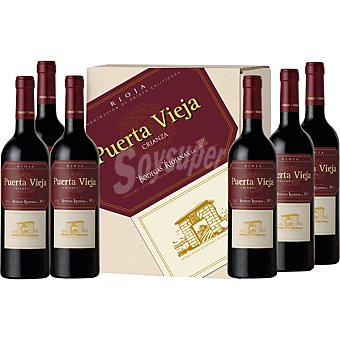 PUERTA VIEJA vino tinto crianza D.O. Rioja oferta especial caja  6 botellas 75 cl