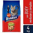 Pienso para gatos adultos con buey, ternera y verdura Bolsa 4 kg Brekkies Affinity