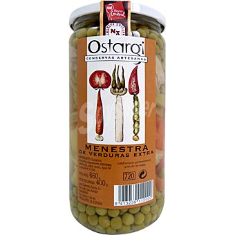 OSTARGUI Menestra de verduras extra Frasco 400 g neto escurrido